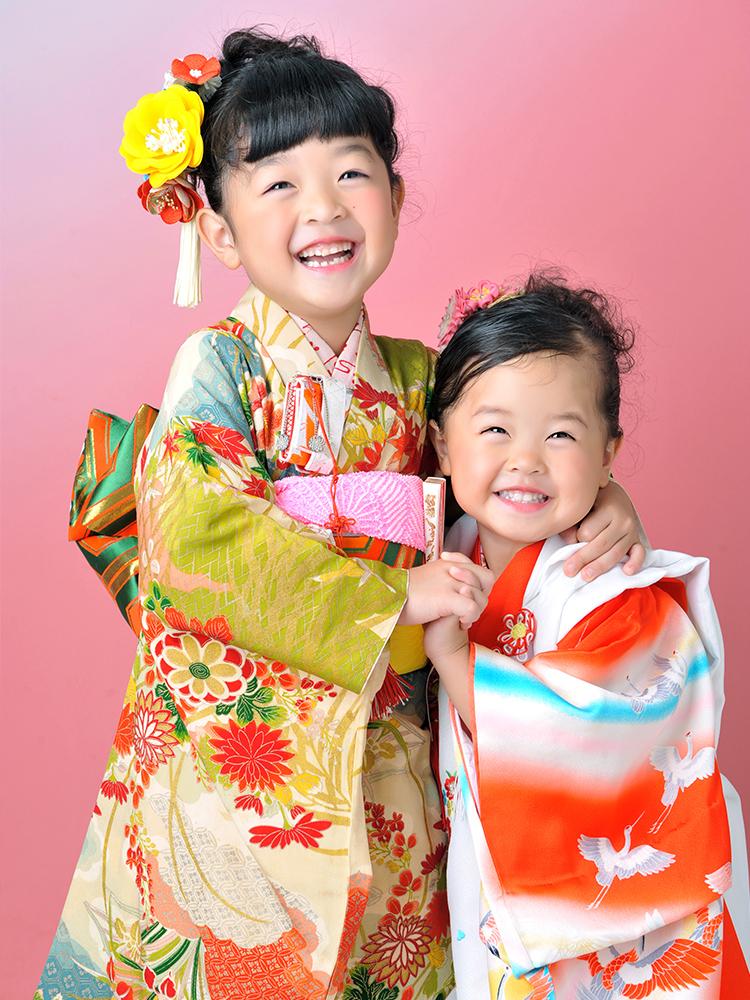 七五三 7歳 3歳 女の子 着物 姉妹和装