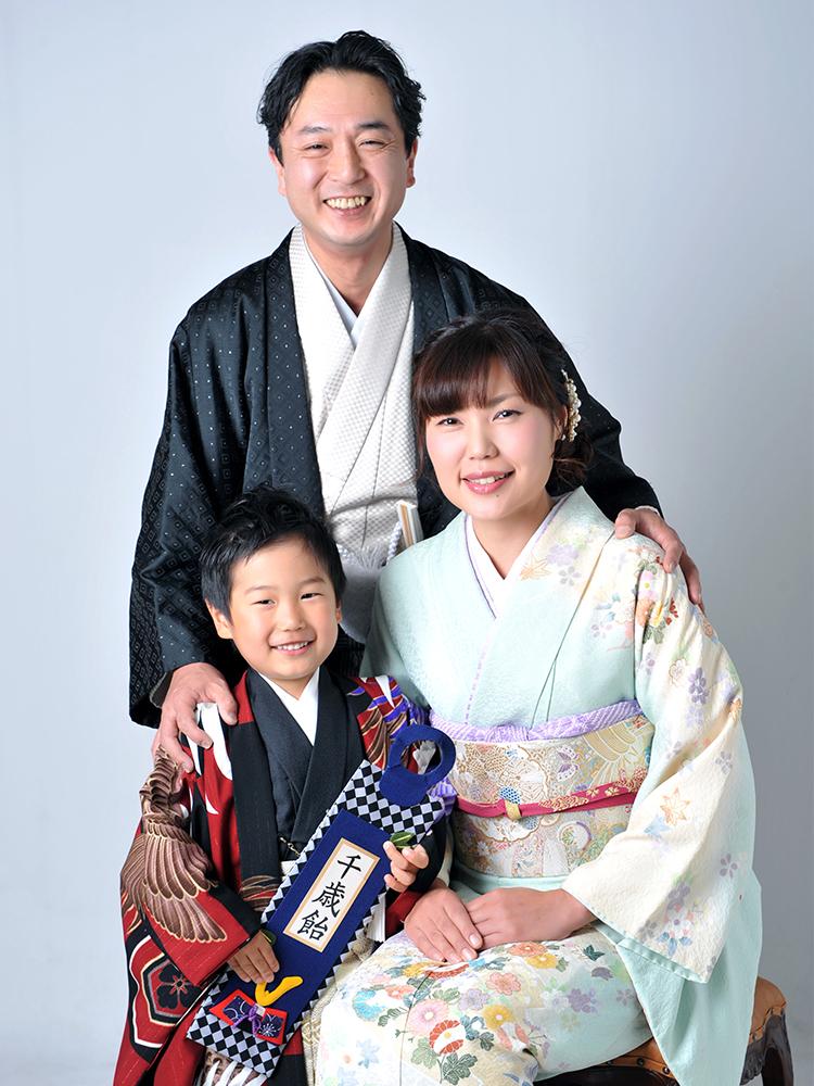 七五三 5歳 男の子 着物 家族和装