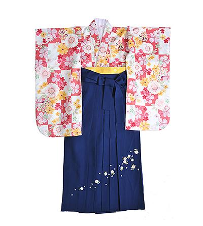 卒業袴 / ピンク / 紺 / 刺繍