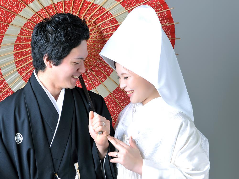 白無垢 綿帽子 袴 夫婦写真 和装
