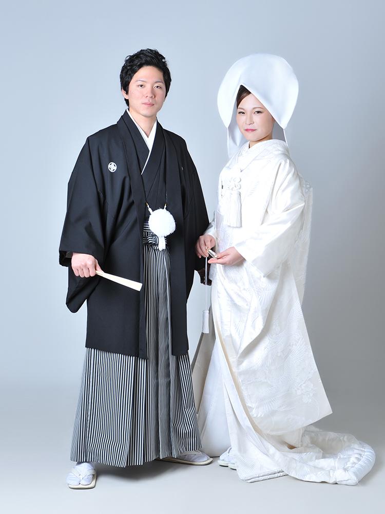白無垢 袴 夫婦写真 和装