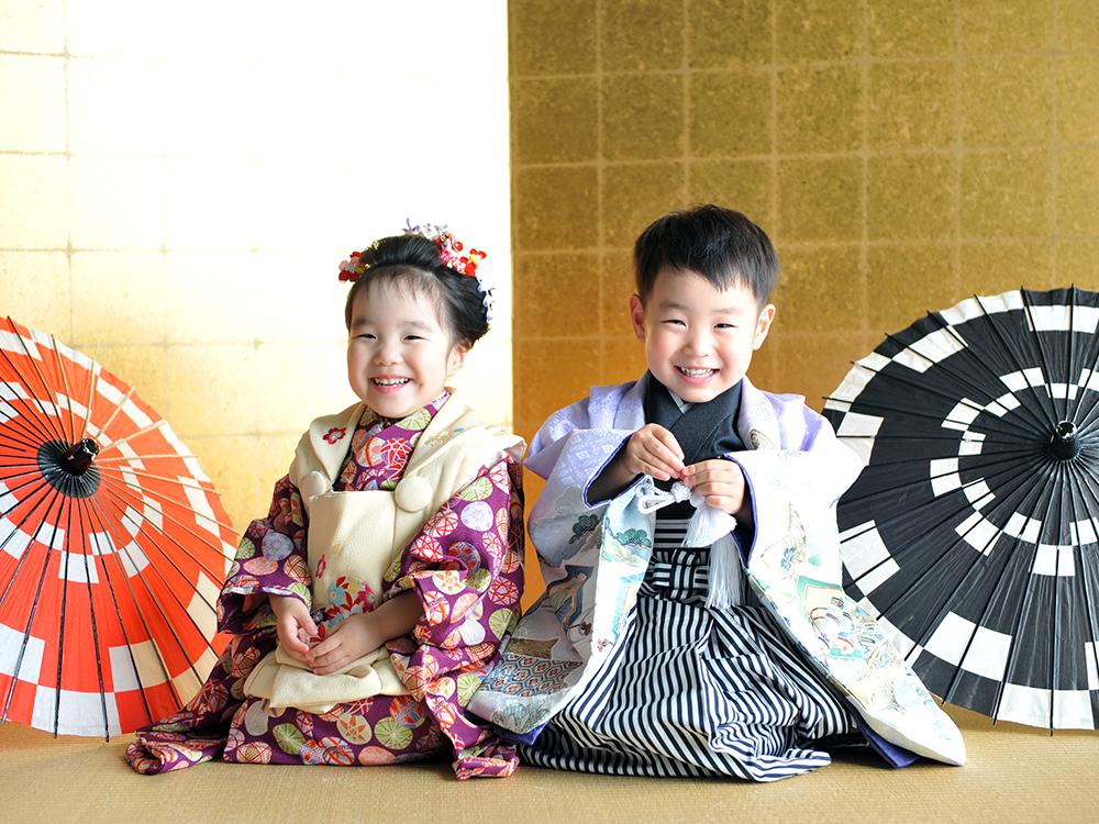 七五三 3歳 男の子 女の子 双子 着物 きょうだい和装
