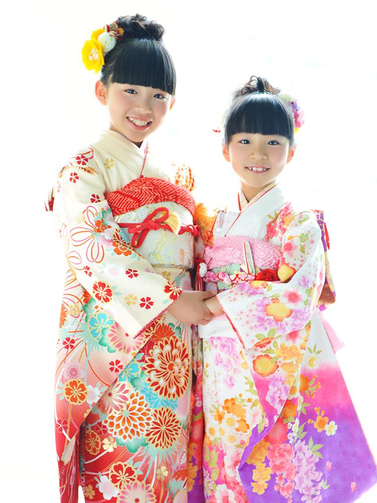七五三 7歳 女の子 着物 姉妹和装