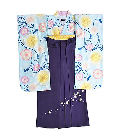 卒業袴 / 水色 / 甕覗色 / 紫 / 刺繍