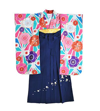 卒業袴 / 水色 / 浅葱色 / 紺 / 刺繍