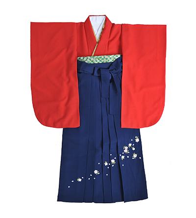 卒業袴 / 赤 / 無地 / 紺 / 刺繍