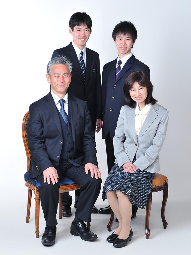 家族写真 制服