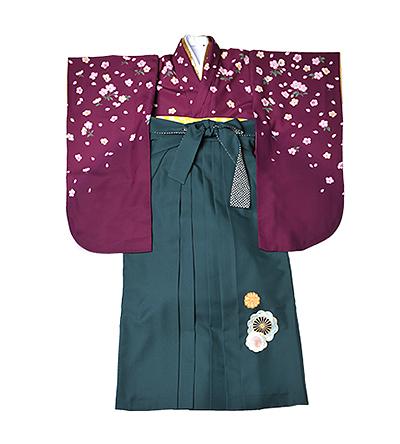 卒業袴 / 紫 / 葡萄色 / 緑 / 刺繍