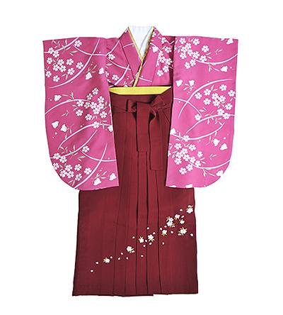 卒業袴 / ピンク / 紅鶸色 / エンジ / 刺繍