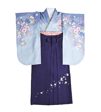 卒業袴 / 水色 / 紅碧 / 紫 / 刺繍