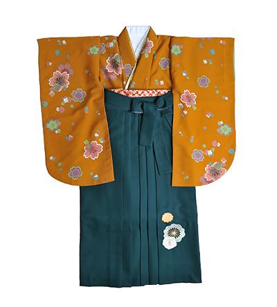 卒業袴 / からし色 / 緑 / 刺繍