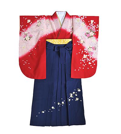 卒業袴 / 赤 / 紺 / 刺繍