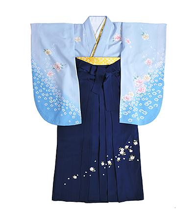 卒業袴 / 水色 / 紺 / 刺繍