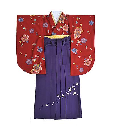 卒業袴 / ボルドー / 紫 / 刺繍