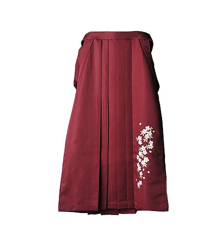 エンジ / 刺繍 / 87cm