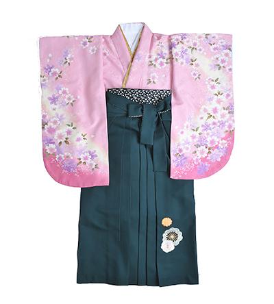 卒業袴 / ピンク / 撫子色 / 緑 / 刺繍