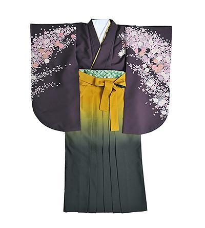 卒業袴 / 紫 / 滅紫色 / 黄×グレー / グラデーション