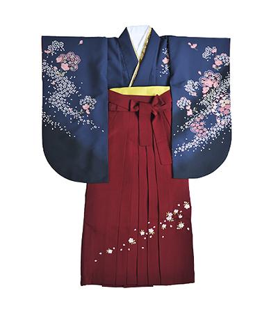 卒業袴 / 青 / 紺 / エンジ / 刺繍