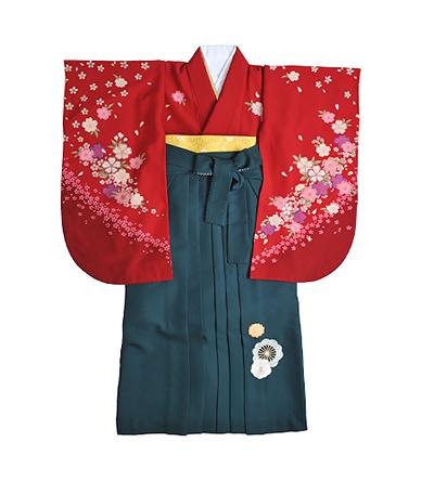 卒業袴 / 赤 / 緑 / 刺繍