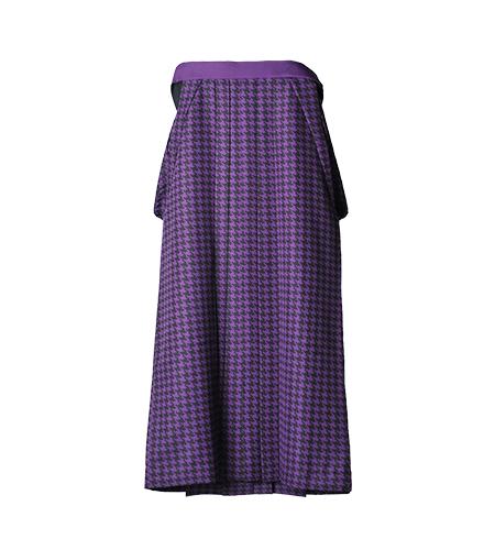 紫 / チェック / 95cm