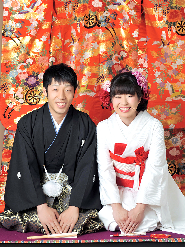 色打掛 袴 夫婦写真 和装