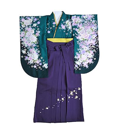 卒業袴 / 緑 / 紫 / 刺繍