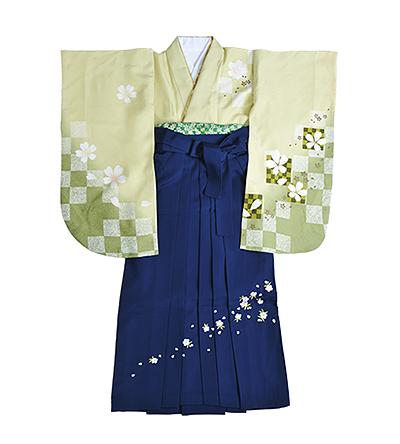 卒業袴 / うぐいす色 / 紺 / 刺繍