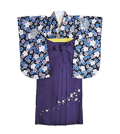 卒業袴 / 黒 / 青 / 紫 / 刺繍