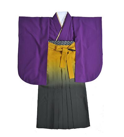 卒業袴 / 紫 / 桔梗色 / 黄×グレー / グラデーション