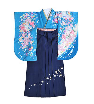 卒業袴 / 青 / 紺 / 刺繍