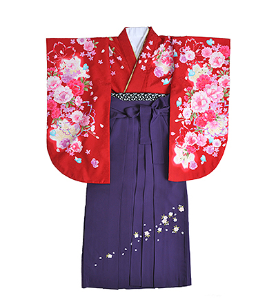 卒業袴 / 赤 / 紫 / 刺繍