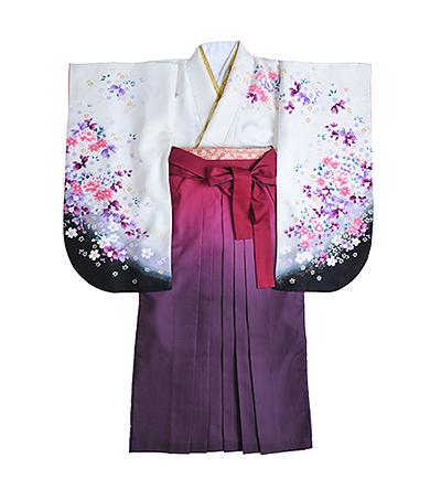 卒業袴 / 白×黒 / 紫  / グラデーション