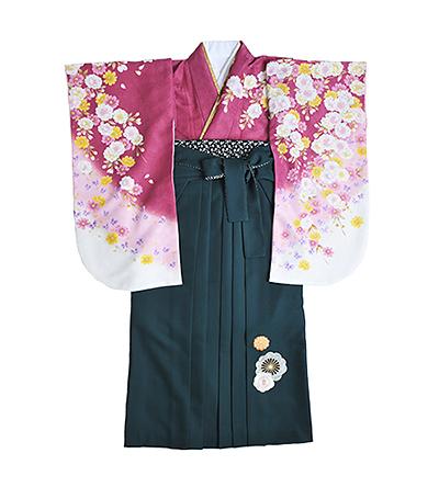 卒業袴 / ピンク / 葡萄染色 / 緑 / 刺繍