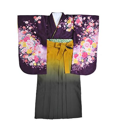 卒業袴 / 紫 / 紫紺 /  黄×グレー / グラデーション