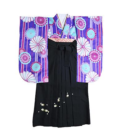 卒業袴 / 紫 / 黒 / 刺繍