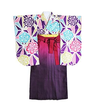 卒業袴 / ピンク×紫 / グラデーション