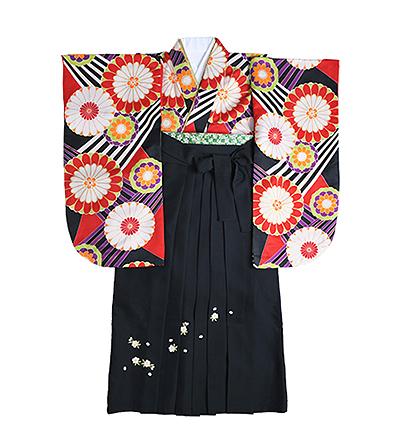 卒業袴 / 黒 / 刺繍