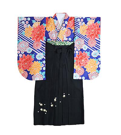 卒業袴 / 青 / 瑠璃色 / 黒 / 刺繍