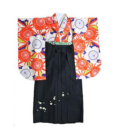 卒業袴 / 個性派柄 / 黒 / 刺繍