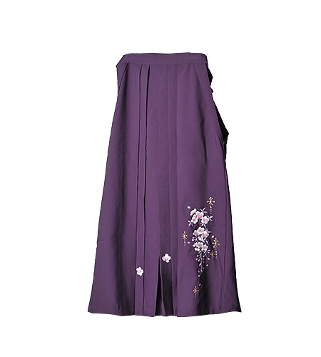 紫 / 刺繍 / 87cm