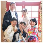 七五三 家族写真 家族和装 着物