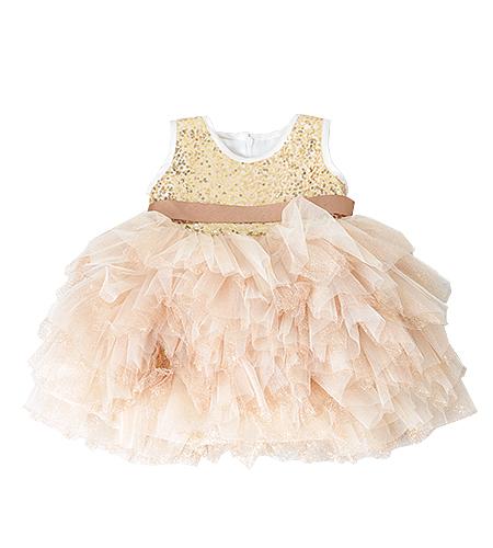 洋装 / ドレス / 80cm / ゴールド / 女の子