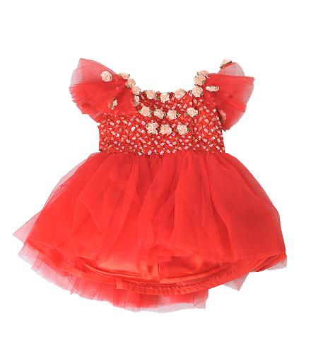 洋装 / ドレス / 80cm / 赤 / 女の子