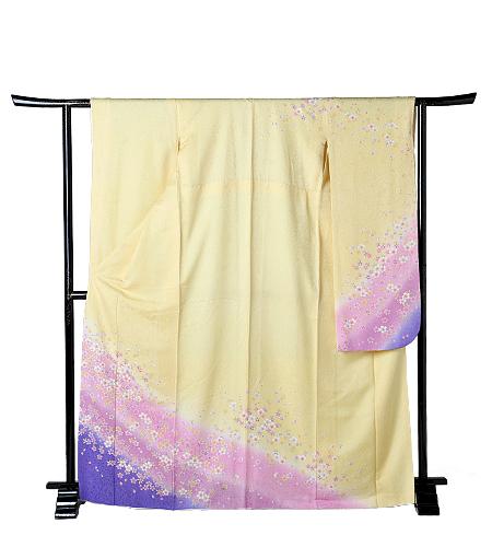 No.60-S / 振袖 / 黄色 / 紫 / シンプル