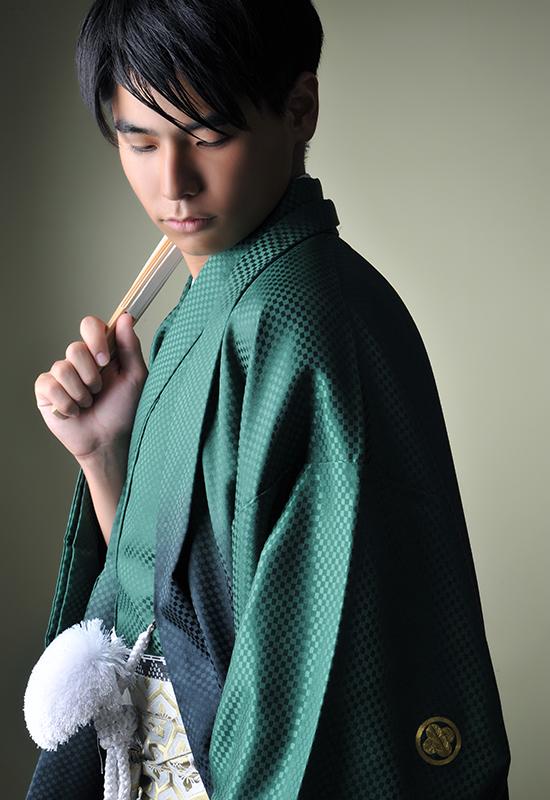 成人男性 / 紋服 / 袴 / 緑
