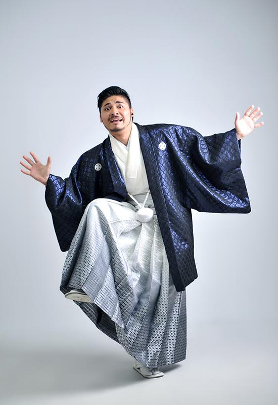 成人男性 / 紋服 / 袴 / 紫