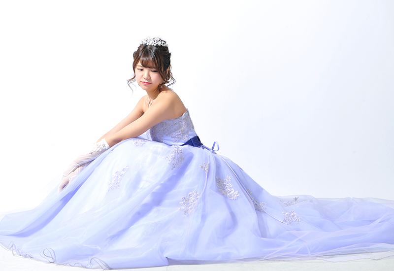 成人女性 / ドレス / 紫 / ティアラ