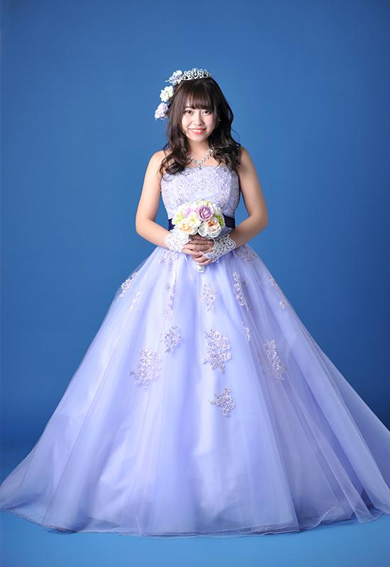 成人女性 / ドレス / 紫 / ブーケ