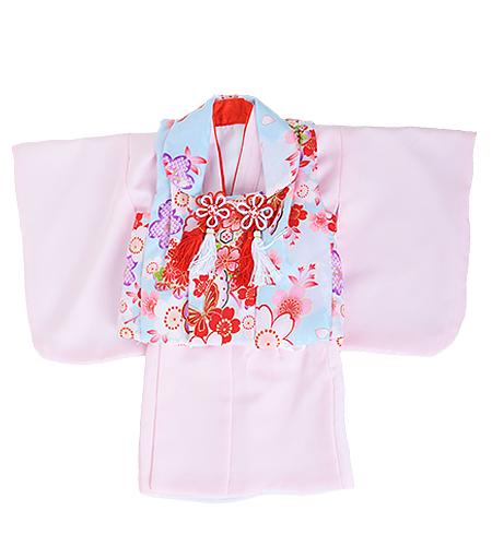 百日記念 / 祝着 / 着物 / 被布 / ピンク / 女の子