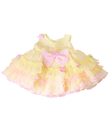 百日記念 / 洋装 / ドレス / 黄色 / 女の子